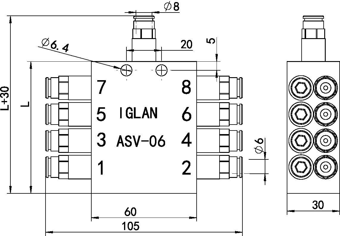 ASV10-dimension