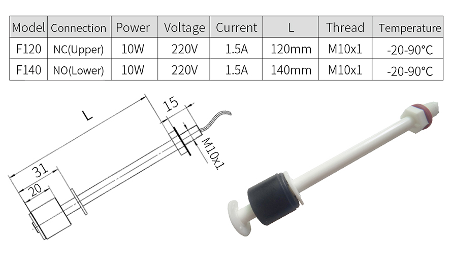 Liquid Level Switch specification